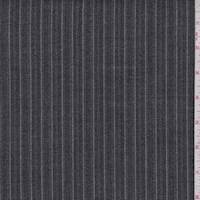*3 1/8 YD PC--Black/Grey Herringbone Stripe Suiting